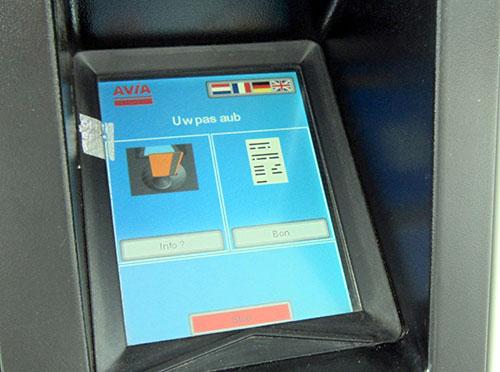 Tankautomaat scherm